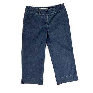 Anthropologie Sitwell Capri Pants Wide Leg Size 8